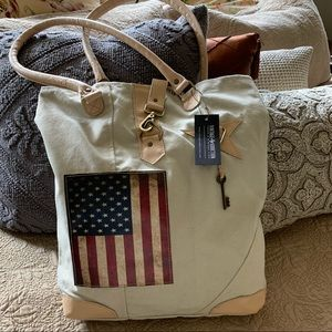 NWT Handmade Tote. Canvas from military tents.